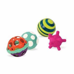 PELOTAS DE ESTIMULACION BALL-A-BALLOOS SET DE 4 PELOTAS 4 ACTIVIDADES BABY B.