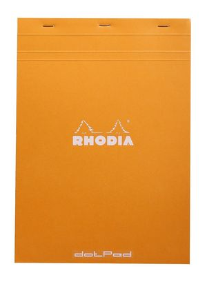 BLOC RHODIA A5 DOTPAD ORANGE 80 H.