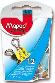 CAJA 12 PINZAS PARA CLIPS 15MM MAPED