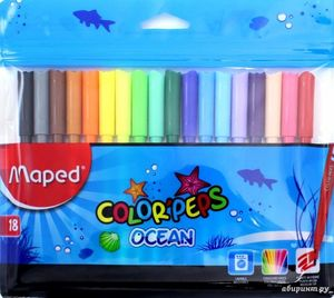 CAJA 18 ROTULADORES COLORPEPS OCEAN MAPED