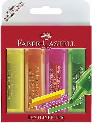 PACK 4 ROTULADORES FLUORESCENTES FABER CASTELL