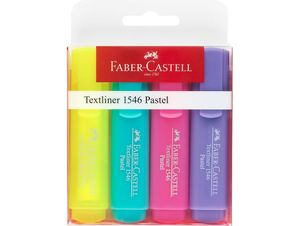 PACK 4 ROTULADORES FLUORESCENTES COLORES PASTEL FABER CASTELL