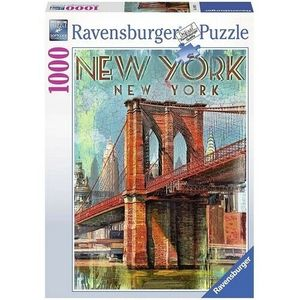 PUZZLE 1000 PIEZAS RETRO NEW YORK RAVENSBURGER