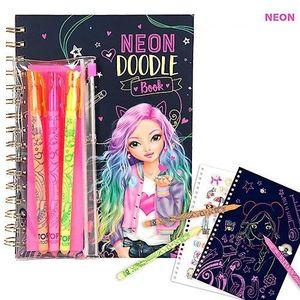 DOODLE BOOK NEON CONSET DE BOLIGRAFOS NEON TOP MODEL