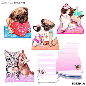 BLOC MEMO PAD KITTY & DOG TOP MODEL
