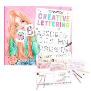 LIBRO DE COLOREAR LETTERING CREATIVO TOP MODEL