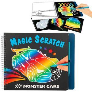 CUADERNO RASCAR MAGIC SCRATCH MONSTER CARS