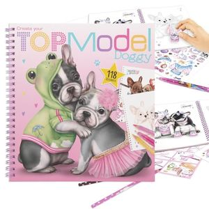 CUADERNO CREATE YOUR TOPMODEL DOGGY COLOURING BOOK