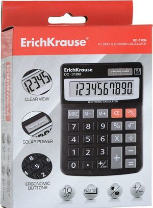 CALCULADORA ERICHKRAUSE 10 DIGITOS DC-210N