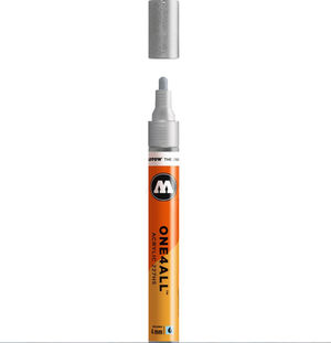 ROTULADOR ACRILICO METALLIC SILVER MOLOTOW ONE4ALL 227HS 4MM