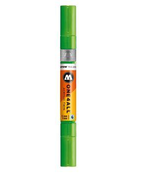 ROTULADOR ACRILICO NEON GREEN FLUO DOBLE PUNTA MOLOTOW ONE4ALL 1,5 - 4 MM