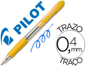 BOLIGRAFO PILOT SUPER GRIP M AMARILLO