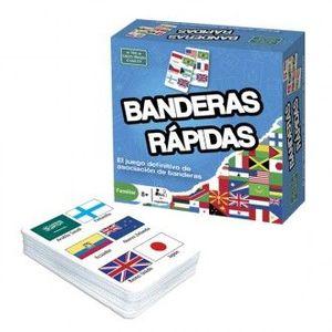 JUEGO DE CARTAS BANDERAS RAPIDAS BRAINBOX