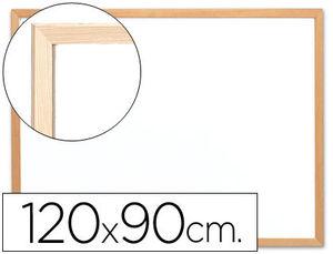 Q-Connect Pizarra Blanca Melamina Marco De Madera 120 x 90 Cm