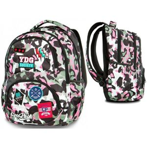 MOCHILA DART CAMO PINK PARCHES COOL PACK