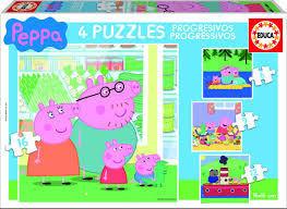 PUZZLES PROGRESIVOS 6+9+12+16 PIEZAS PEPPA PIG EDUCA