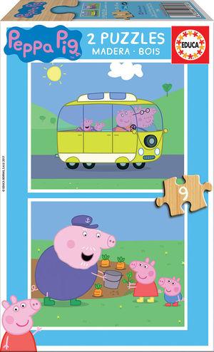 PUZZLE 2X9 PIEZAS PEPPA PIG EDUCA