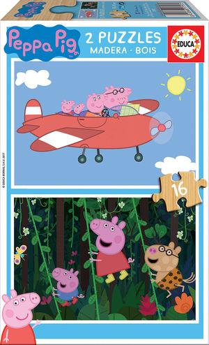 PUZZLE 2X16 PIEZS PEPPA PIG EDUCA