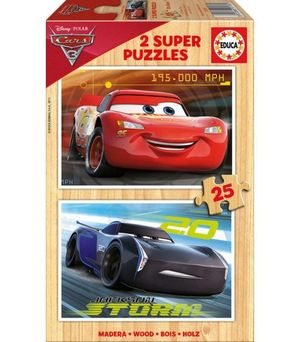 PUZZLE 2X25 PIEZAS CARS 3 EDUCA