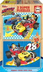 PUZZLE 25X2 PIEZS MICKEY AND THE ROADSTER RACERS EDUCA