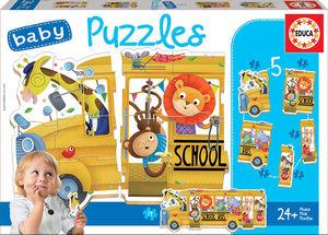 BABY PUZZLES BUS DE ANIMALITOS EDUCA