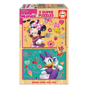 PUZZLE MADERA MINNIE 16X2 EDUCA