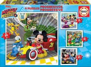 PUZZLE PROGRESIVO MICKEY AND THE ROADSTER RACERS EDUCA