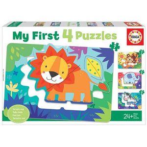 PUZZLE PROGRESIVO 5+6+7+8 ANIMALES DE LA SELVA MY FIRST EDUCA