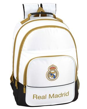 MOCHILA DOBLE REAL MADRID ADAPTABLE REAL MADRID