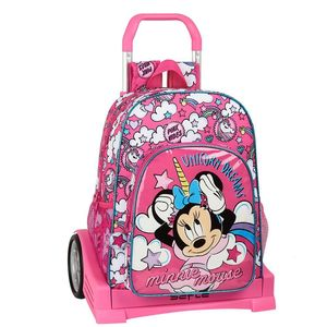 MOCHILA CON CARRO EVOLUTION MINNIE MOUSE UNICORNS SAFTA