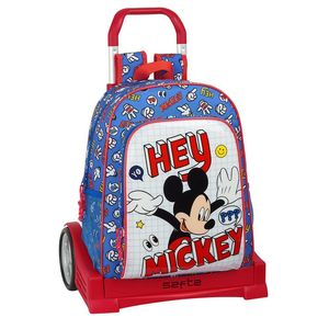 MOCHILA CON CARRO EVOLUTION MICKEY MOUSE THINGS SAFTA