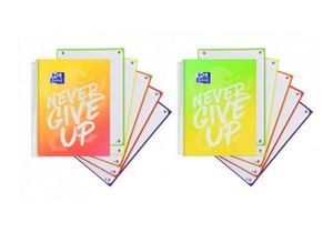 BLOC A4 5X5 NEVER GIVE UP EUROPEANBOOK OXFORD