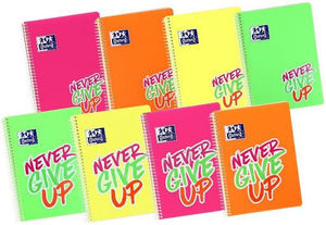 BLOC A5 4X4 NEVER GIVE UP POLIPROPILENO OXFORD