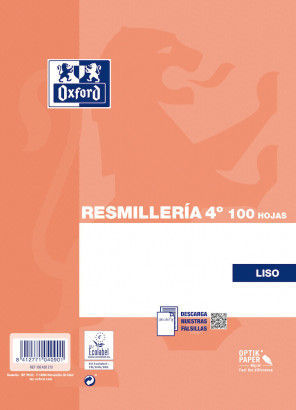 PAPEL 100 HOJAS A5 LISO 90GR OXFORD