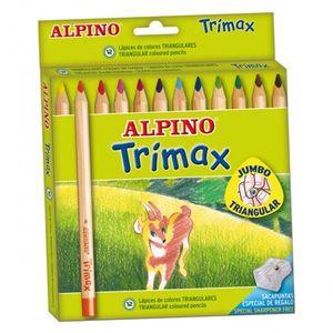 CAJA 12 LAPICES DE COLORES ALPINO TRIMAX
