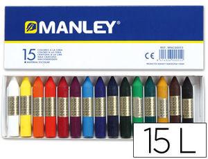CERA MANLEY CAJA DE 15 COLORES REF. 115