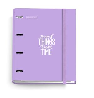 ARCHIVADOR A4 RINGBOOK 100 HOJAS 5X5 GOOD THINGS TAKE TIME MIQUELRIUS