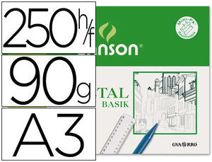 PAPEL VEGETAL A3 90/95 GR. GUARRO