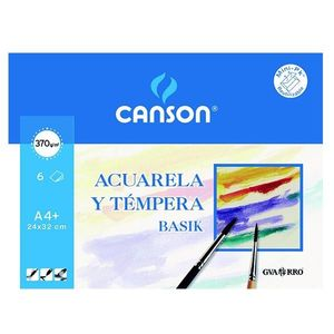 PACK 6 PAPEL ACUARELA CANSON