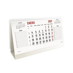 CALENDARIO 2021 SOBREMESA TRIANGULAR 22X13 CASTELLANO INGRAF