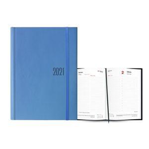 AGENDA 2021 LOS ANGELES DIA PAGINA 15X21 AZUL CLARO INGRAF