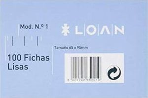 FICHA RAYADA N1 65X95MM LOAN