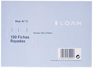 FICHA RAYADA N5 160X215MM LOAN