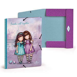CARPETA FOLIO GOMAS FRIENDS WALK TOGETHER VIOLETA GORJUSS