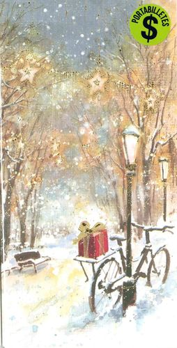 PORTABILLETES CHRISTMAS CON SOBRE BUSQUETS
