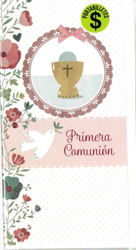 FELICITACION PORTABILLETES PRIMERA COMUNION BUSQUETS