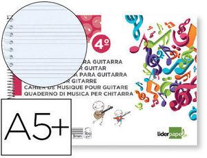 BLOC MUSICA A5 PARA GUITARRA HEXAGRAMA 3 MM 20 HOJAS 100G/M2 LIDERPAPEL