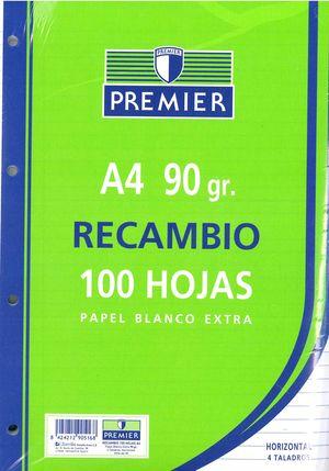 RECAMBIO 4 TALADROS 1 RAYA A4 90 GR.