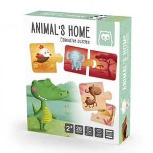 ANIMALS HOME PUZZLE EDUCATIVO 28 PIEZAS EUREKAKIDS