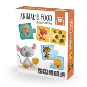 ANIMALS FOOD PUZZLE EDUCATIVO 28 PIEZAS EUREKAKIDS